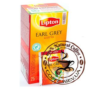 Lipton Earl Grey (Черный чай с бергамотом), 25 x 2 г.