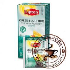 Lipton Green Tea Citrus (Зеленый с цитрусовыми), 25 x 1,3 г.