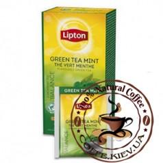 Lipton Green Tea with Mint (Зеленый чай с мятой), 25 x 1,6 г.