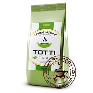 Чай зеленый TOTTI Tea Весенний Жасмин, листовой, 250 г.